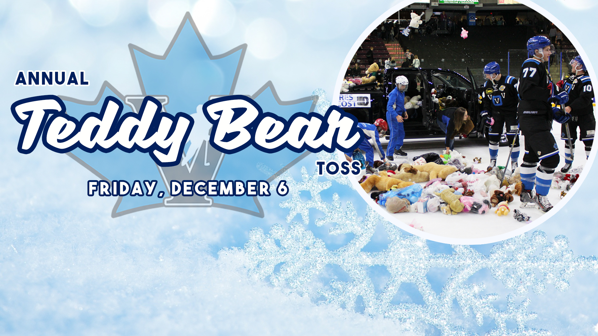 Vees Annual Teddy Bear Toss - Dan Jones