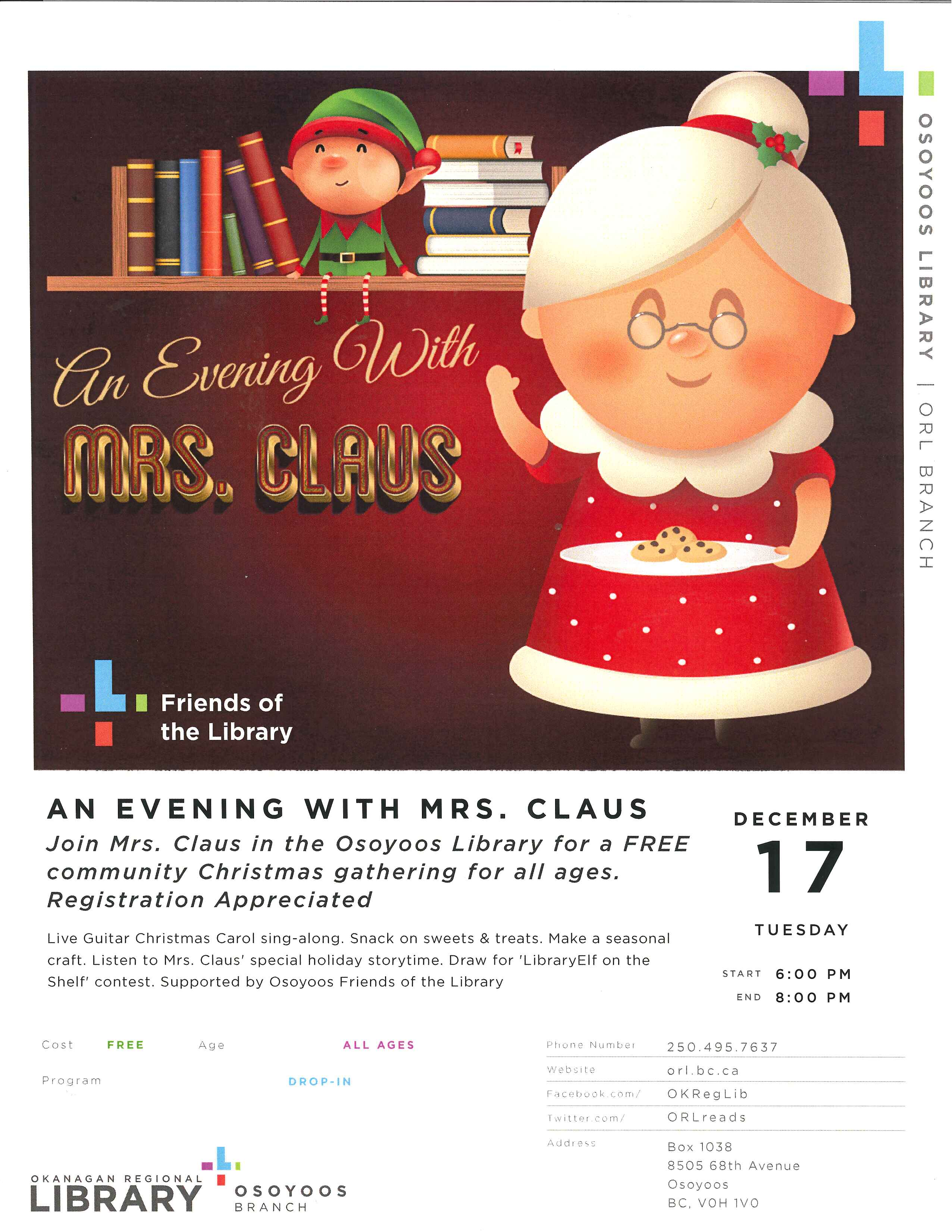 AN EVENING WITH MRS. CLAUS @ OSOYOOS LIBRARY - Dan Jones